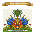 haitian coat arms vector image