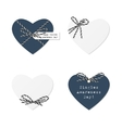 Hearts with bakers twine vector image vector image