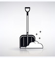 icon shovel for snow cleaning vector image vector image