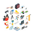 interface icons set isometric style vector image vector image