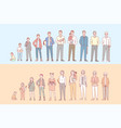 life cycle humans set concept vector image