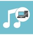 music laptop data server vector image vector image