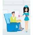 passenger in airplane vector image vector image