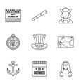 Pioneer icons set outline style vector image vector image