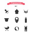 Pregnancy icons vector image