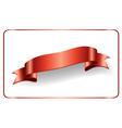 Red ribbon satin bow banner vector image vector image