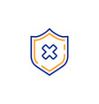 reject protection line icon decline shield sign vector image vector image