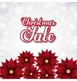 Sale and red flowers icon Merry Christmas design vector image