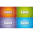 Sales Four Colors vector image vector image
