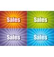 Sales Four Colors vector image
