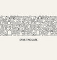 save the date banner concept vector image