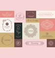 set natural and organic logo in modern design vector image vector image