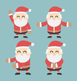 Set of Santa Claus flat design vector image