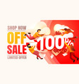 shop now off sale 100 interest discount limited vector image vector image