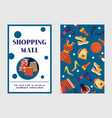 shopping sale or discount background for vector image