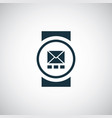 smart watch icon simple flat element design vector image