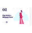 Stewardess flight attendant staff website landing