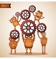 Teamwork concept with cogs and gears vector image vector image
