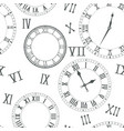time background clocks vector image
