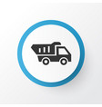 tipper icon symbol premium quality isolated truck vector image