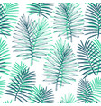 tropical plants seamless pattern hand drawn vector image vector image