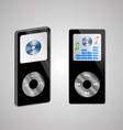 two MP3 players vector image vector image