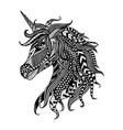 unicorn entangle vector image