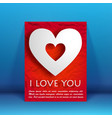 valentines day celebrate flyer vector image vector image
