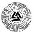 valknut sign god odin odins sign inscribed in vector image vector image