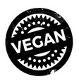 vegan rubber stamp vector image vector image