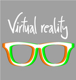 Virtual reality symbol vector image