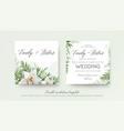 wedding double invitation invite card design vector image vector image