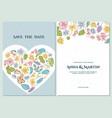 wedding invitation card with pastel celandine vector image vector image