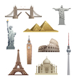 different famous landmarks vector image