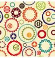 Gear wheels pattern vector image