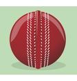 Ball for cricket vector image