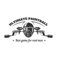 paintball club logo template of pint ball gun vector image