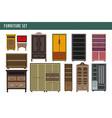 home furniture cabinet bookcase lockers wardrobe vector image