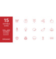 15 organic icons vector image vector image