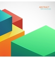 Abstract background Multicolored cubic shapes vector image vector image