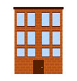 abstract big building vector image vector image
