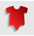 Baby clothes sign vector image vector image
