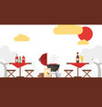 bbq picnic grilling outdoor vector image vector image