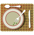 beans on plate vector image vector image