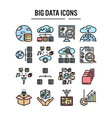 big data icon in filled outline design for web vector image