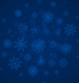 Blue christmas snowflakes background with lights vector image vector image