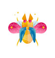 bright colored beetle with open wings creative vector image vector image