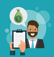 businessman and money vector image