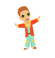 cartoon disco dancer vector image
