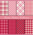 cherry pink tartan collection vector image
